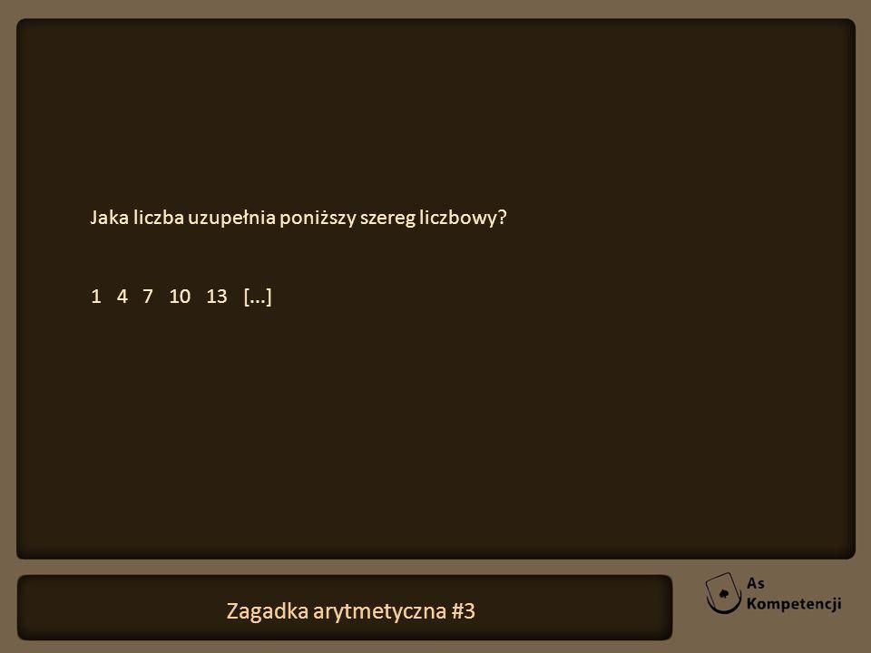 Zagadka arytmetyczna #3