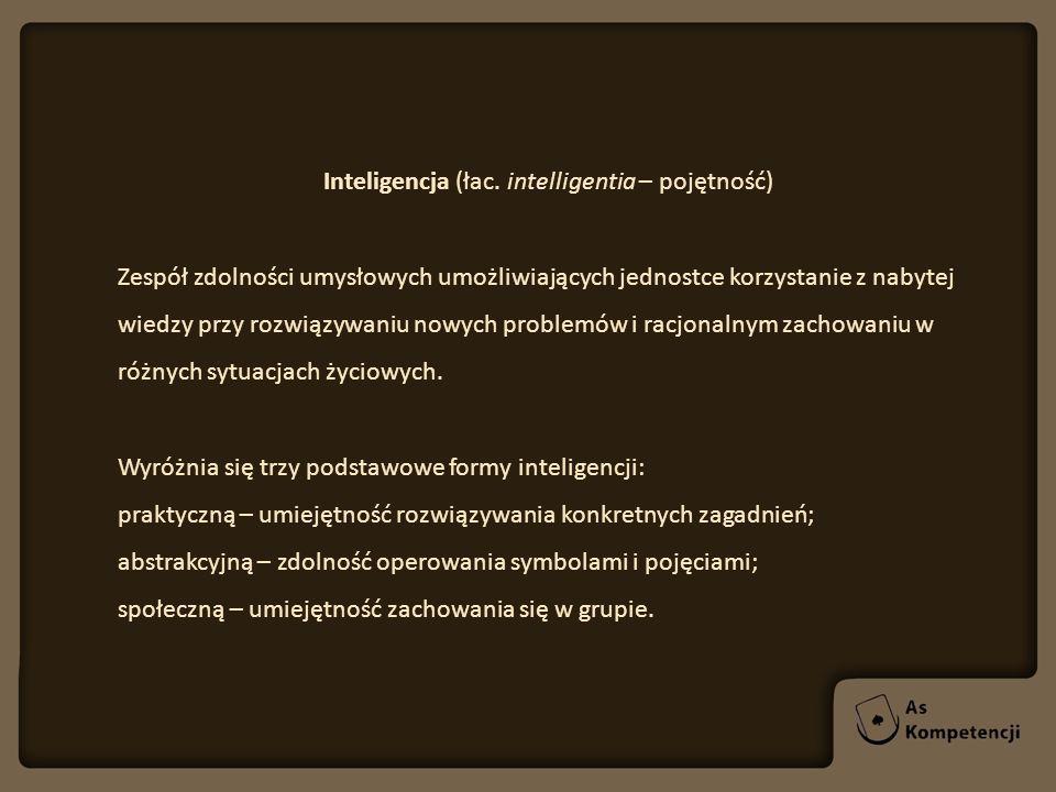 Inteligencja (łac. intelligentia – pojętność)