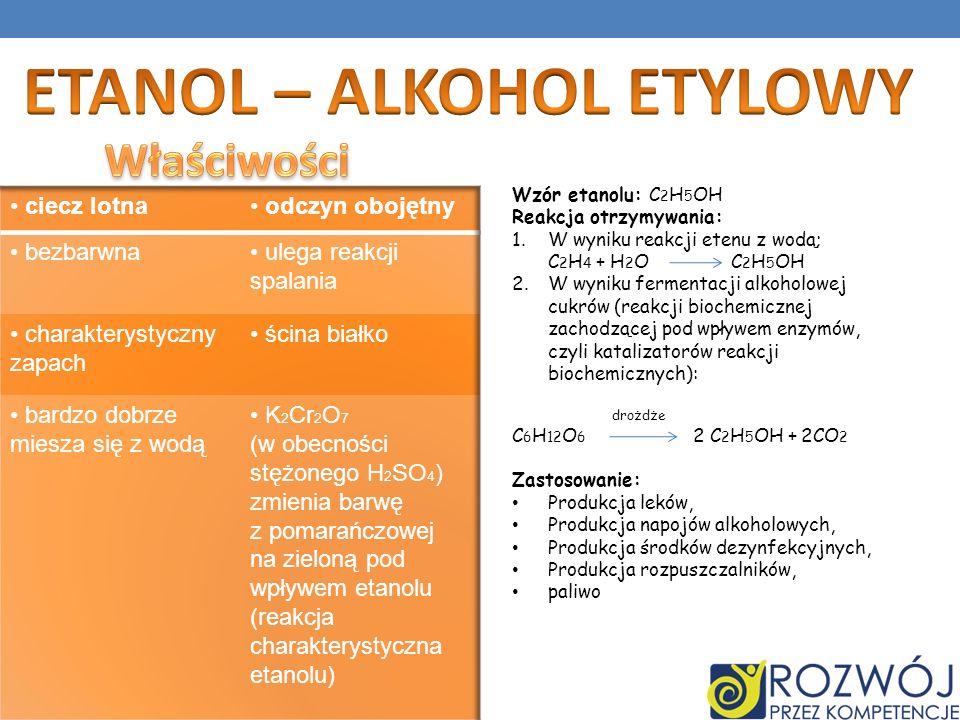 ETANOL – ALKOHOL ETYLOWY