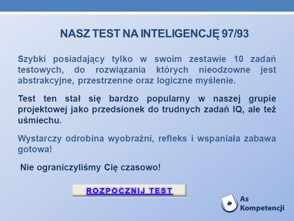 Nasz Test na inteligencję 97/93