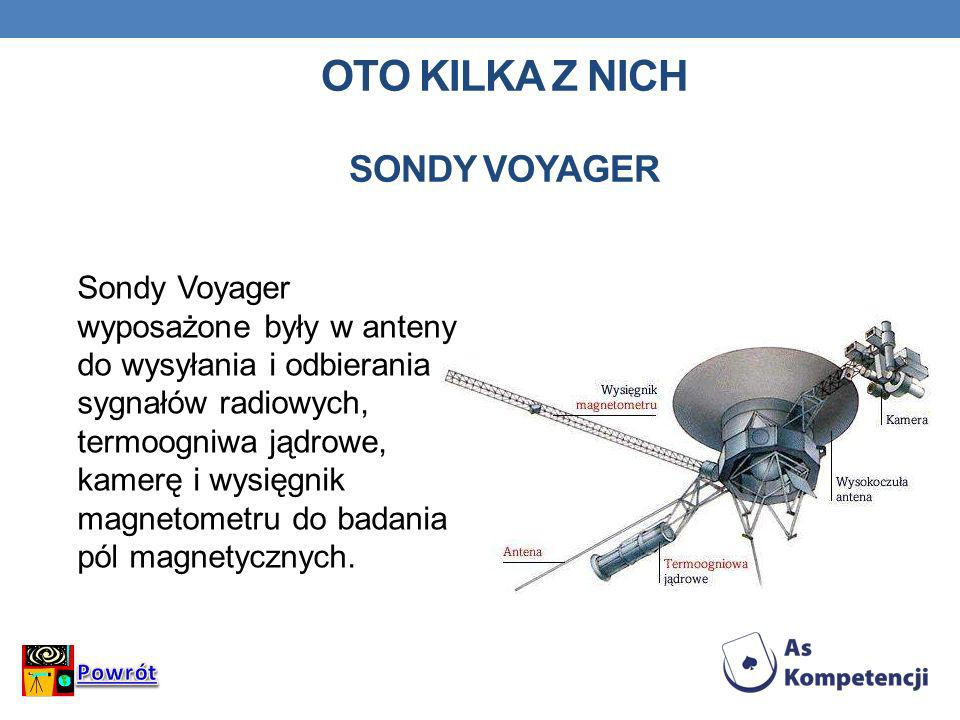 Oto kilka z nich Sondy Voyager
