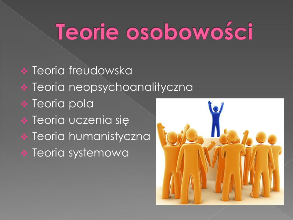 Teorie osobowości Teoria freudowska Teoria neopsychoanalityczna