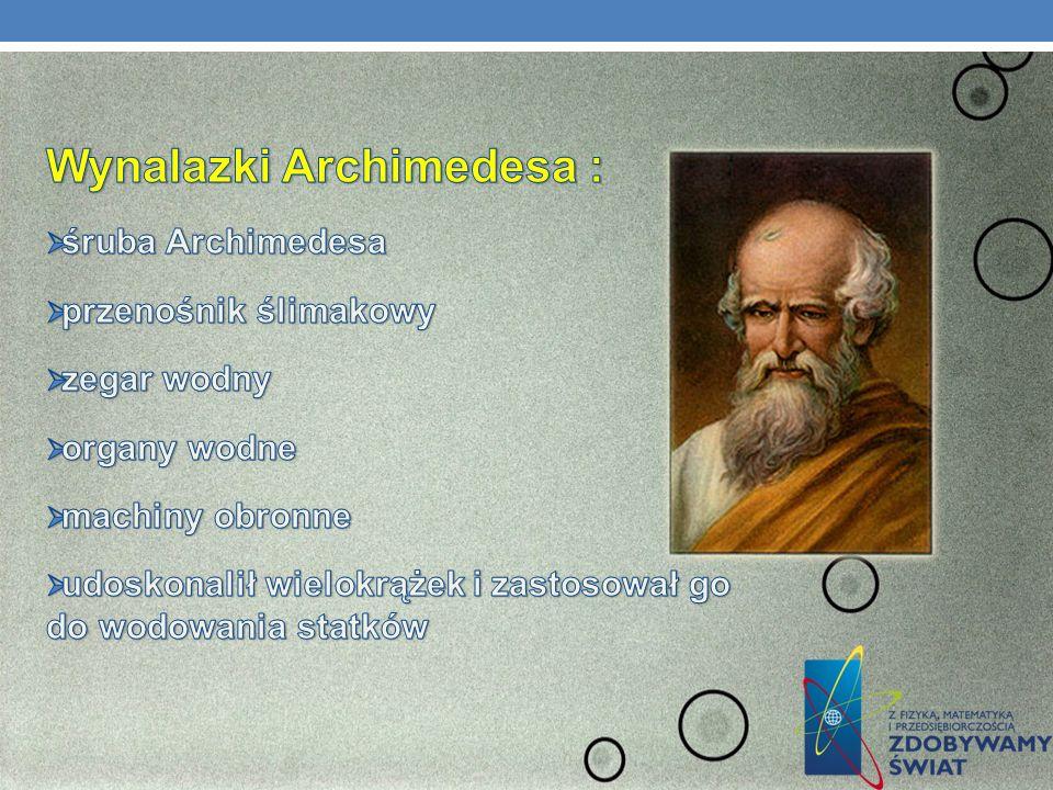 Wynalazki Archimedesa :