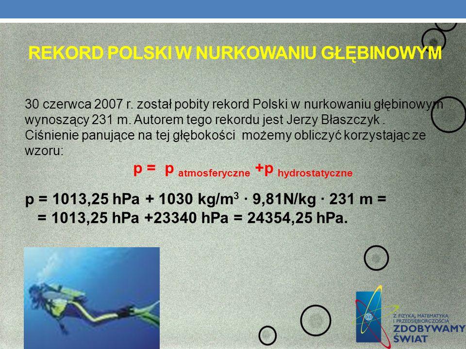 Rekord polski w nurkowaniu głębinowym
