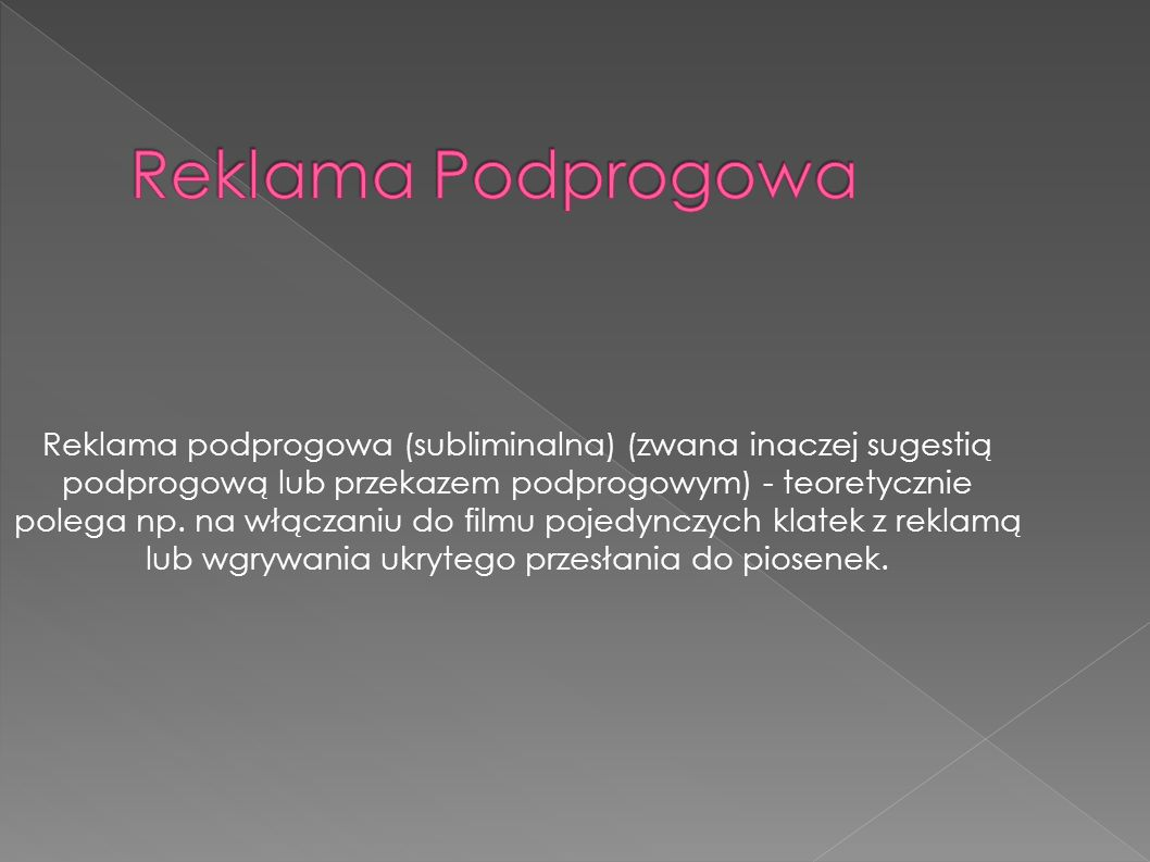 Reklama Podprogowa
