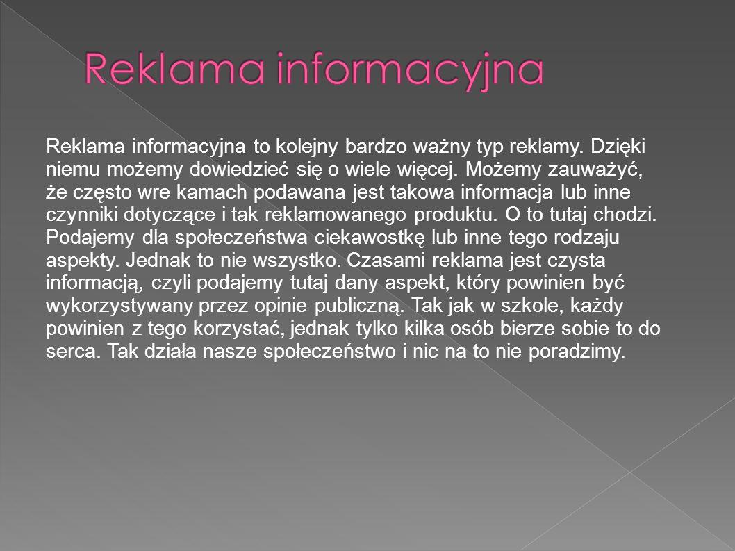 Reklama informacyjna