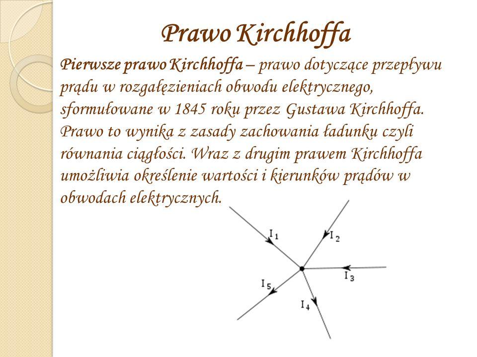 Prawo Kirchhoffa.