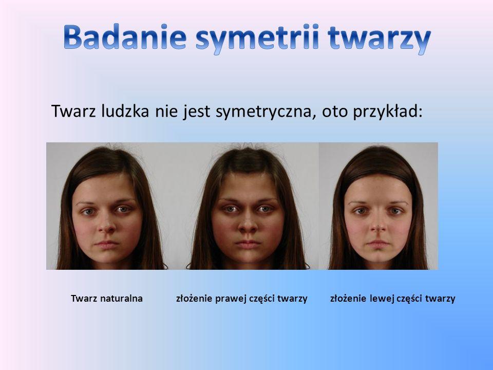Badanie symetrii twarzy