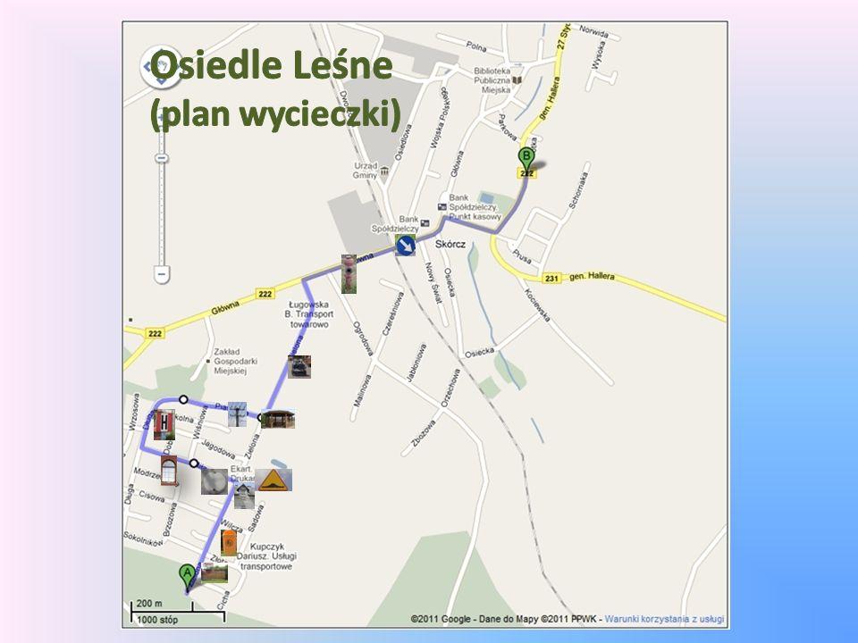 Osiedle Leśne (plan wycieczki)
