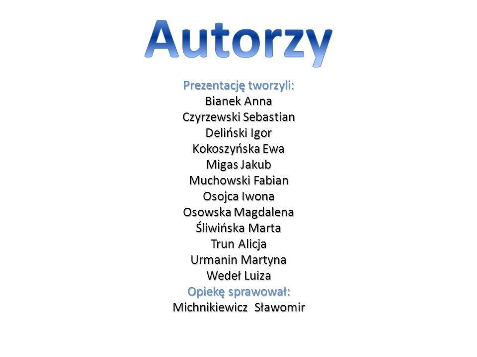 Autorzy Prezentację tworzyli: Bianek Anna Czyrzewski Sebastian