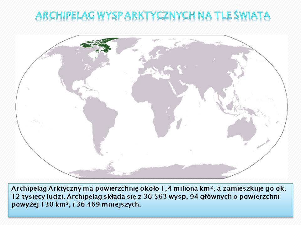 Archipelag Wysp Arktycznych na tle Świata