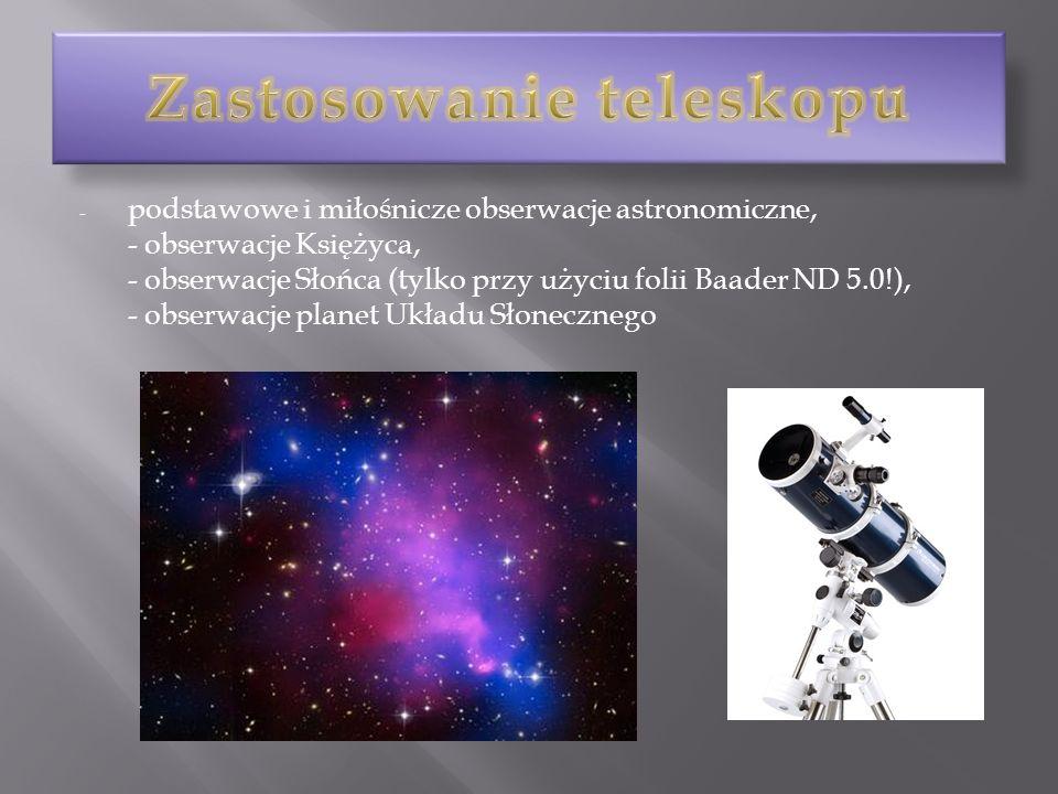 Zastosowanie teleskopu