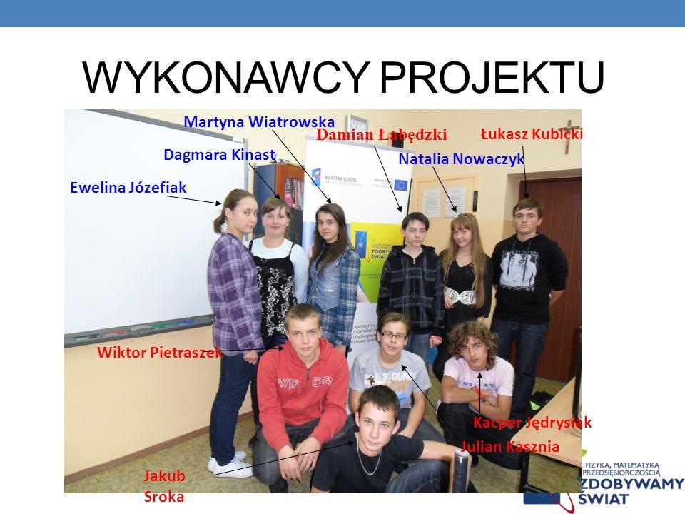 WYKONAWCY PROJEKTU Martyna Wiatrowska Damian Łabędzki Łukasz Kubicki