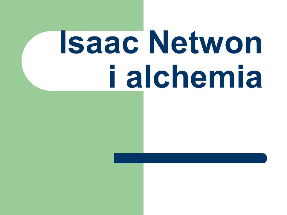 Isaac Netwon i alchemia