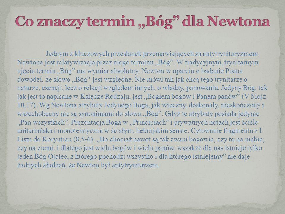 """Co znaczy termin """"Bóg dla Newtona"""