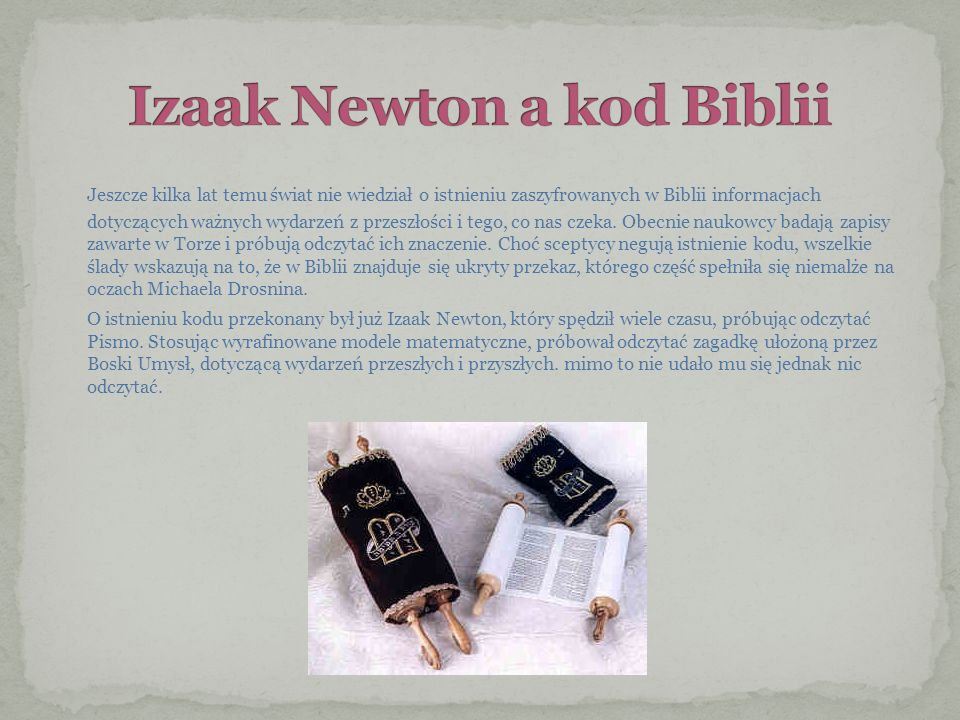 Izaak Newton a kod Biblii