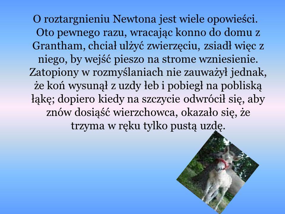 O roztargnieniu Newtona jest wiele opowieści