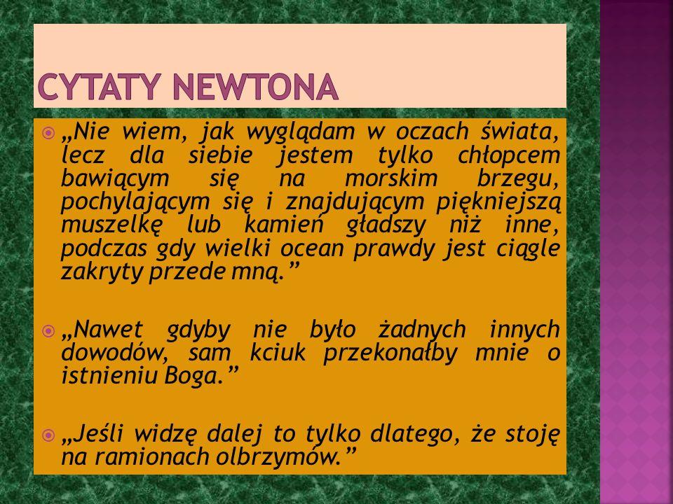 Cytaty Newtona