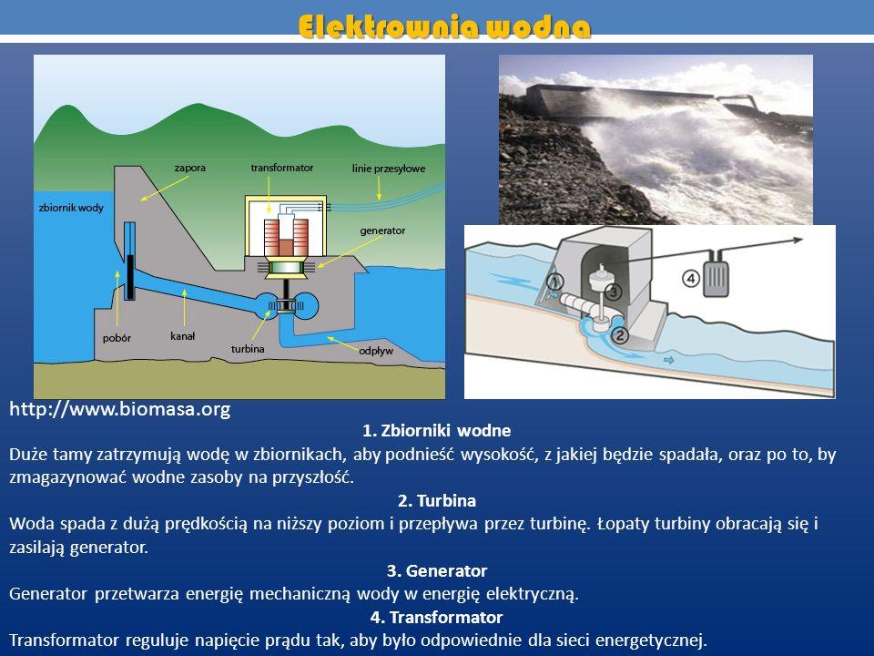 Elektrownia wodna http://www.biomasa.org 1. Zbiorniki wodne