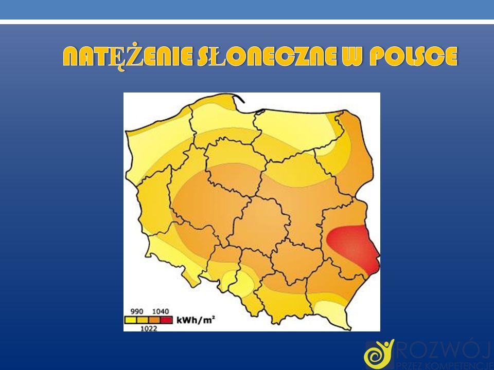 Natężenie słoneczne w Polsce