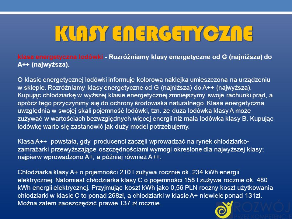 Klasy energetyczne