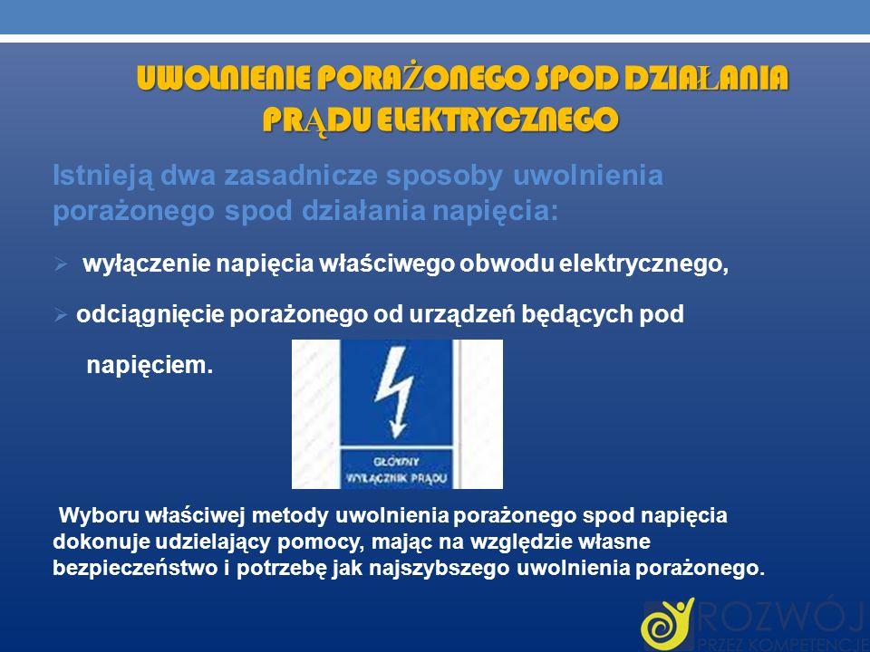 Uwolnienie porażonego spod działania prądu elektrycznego
