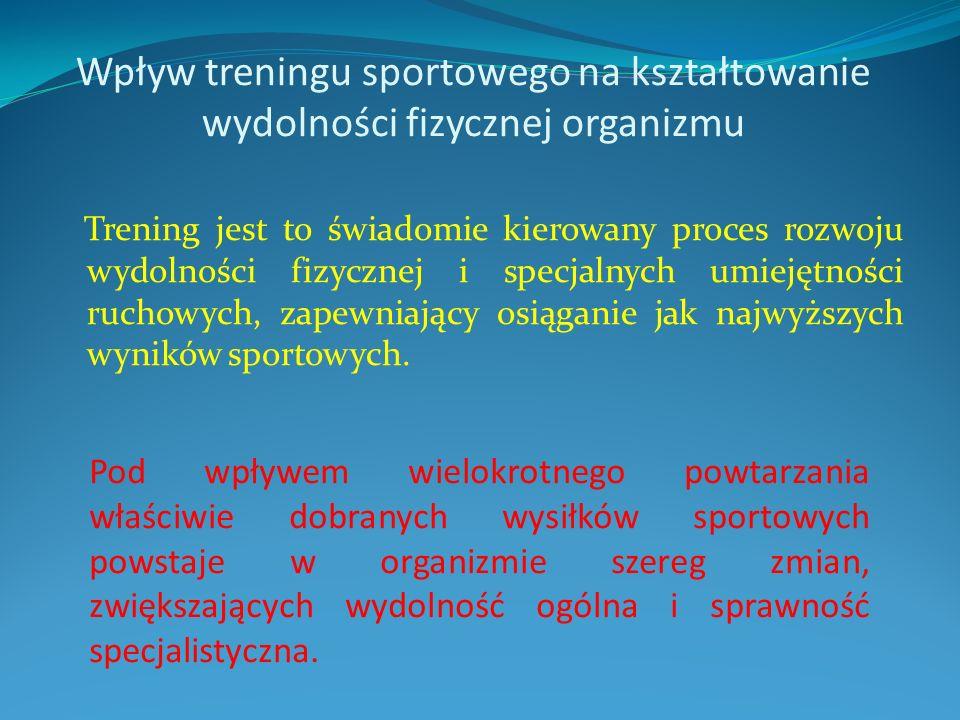 Wpływ treningu sportowego na kształtowanie wydolności fizycznej organizmu