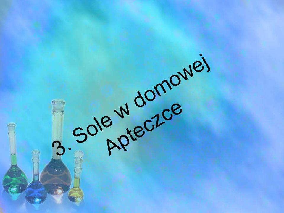3. Sole w domowej Apteczce