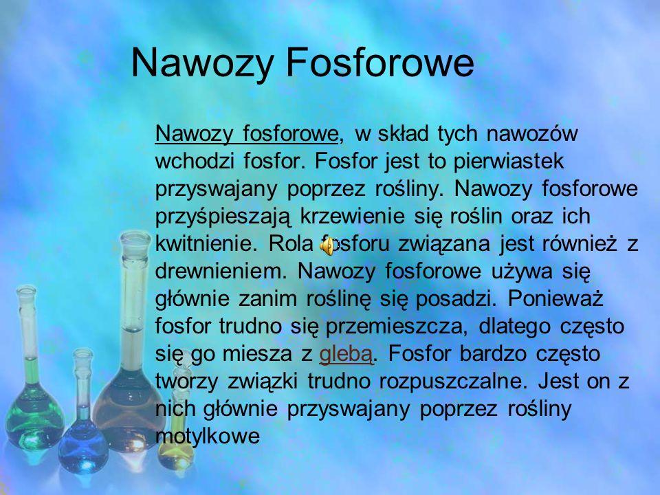 Nawozy Fosforowe