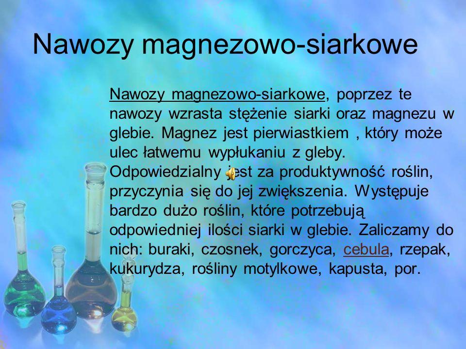 Nawozy magnezowo-siarkowe