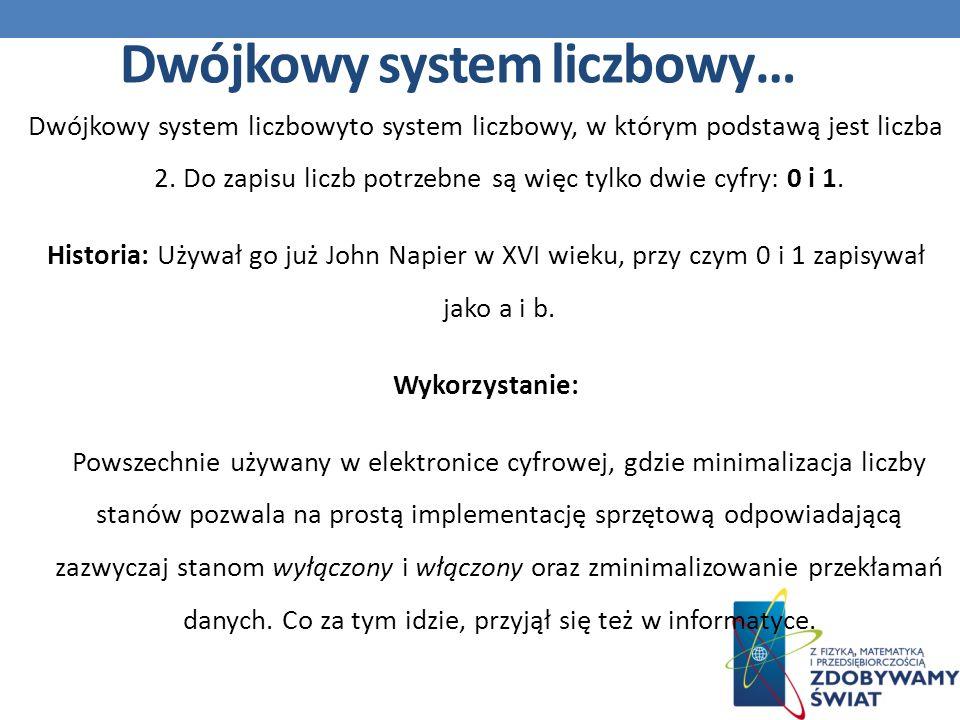 Dwójkowy system liczbowy…
