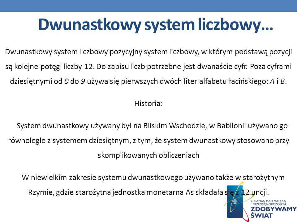 Dwunastkowy system liczbowy…