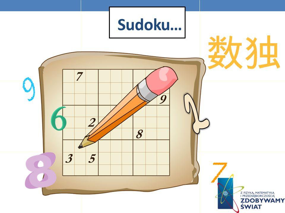 Sudoku… 数独