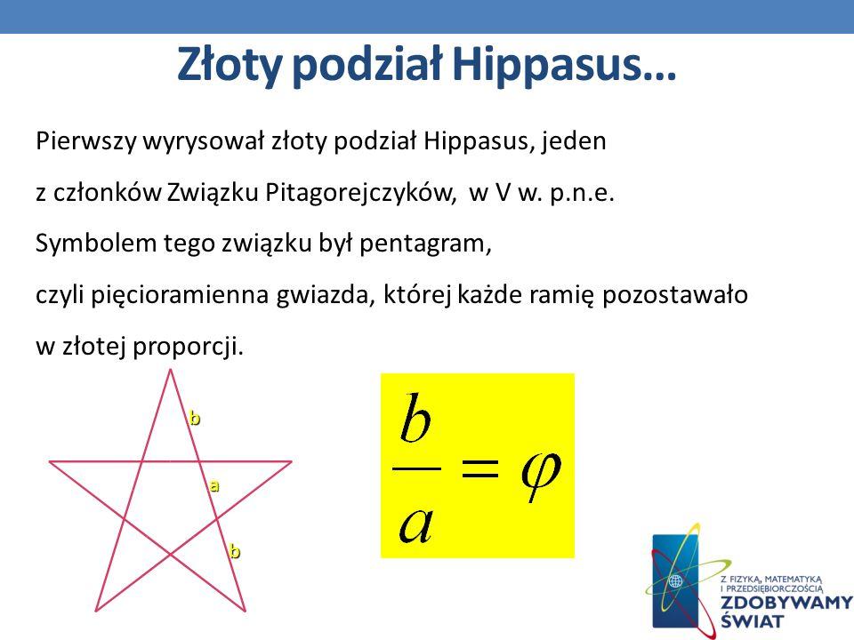 Złoty podział Hippasus…