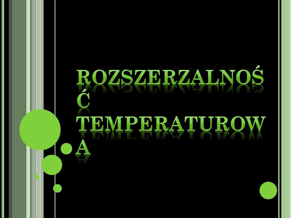 Rozszerzalność temperaturowa