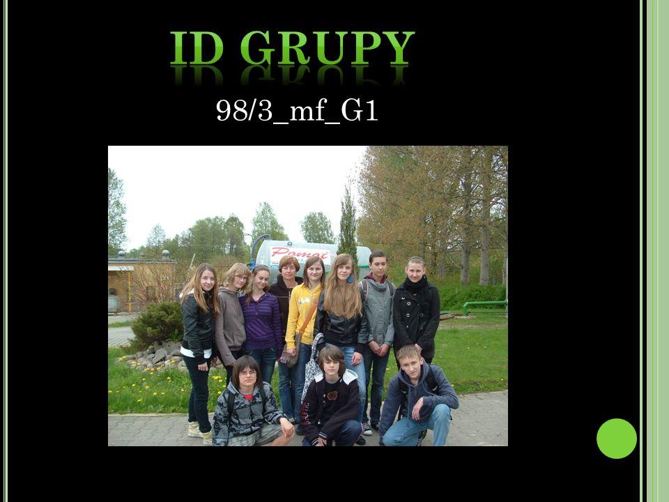 ID Grupy 98/3_mf_G1 98/3_mf_G1