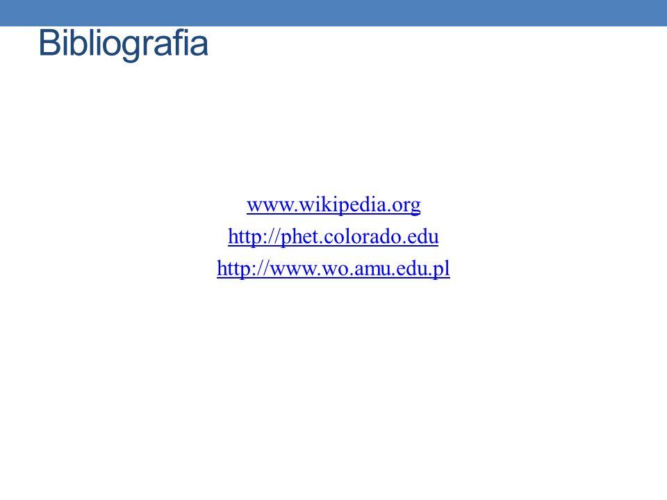 www.wikipedia.org http://phet.colorado.edu http://www.wo.amu.edu.pl