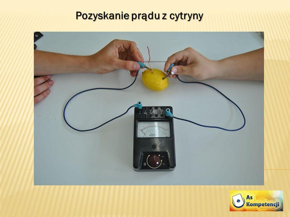 Pozyskanie prądu z cytryny