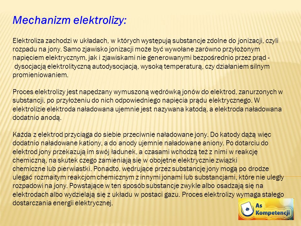 Mechanizm elektrolizy: