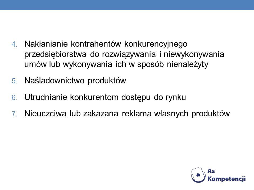 Nakłanianie kontrahentów konkurencyjnego przedsiębiorstwa do rozwiązywania i niewykonywania umów lub wykonywania ich w sposób nienależyty