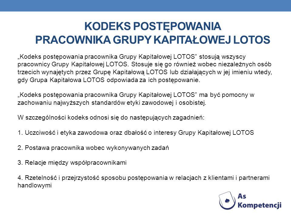 Kodeks postępowania pracownika Grupy Kapitałowej LOTOS