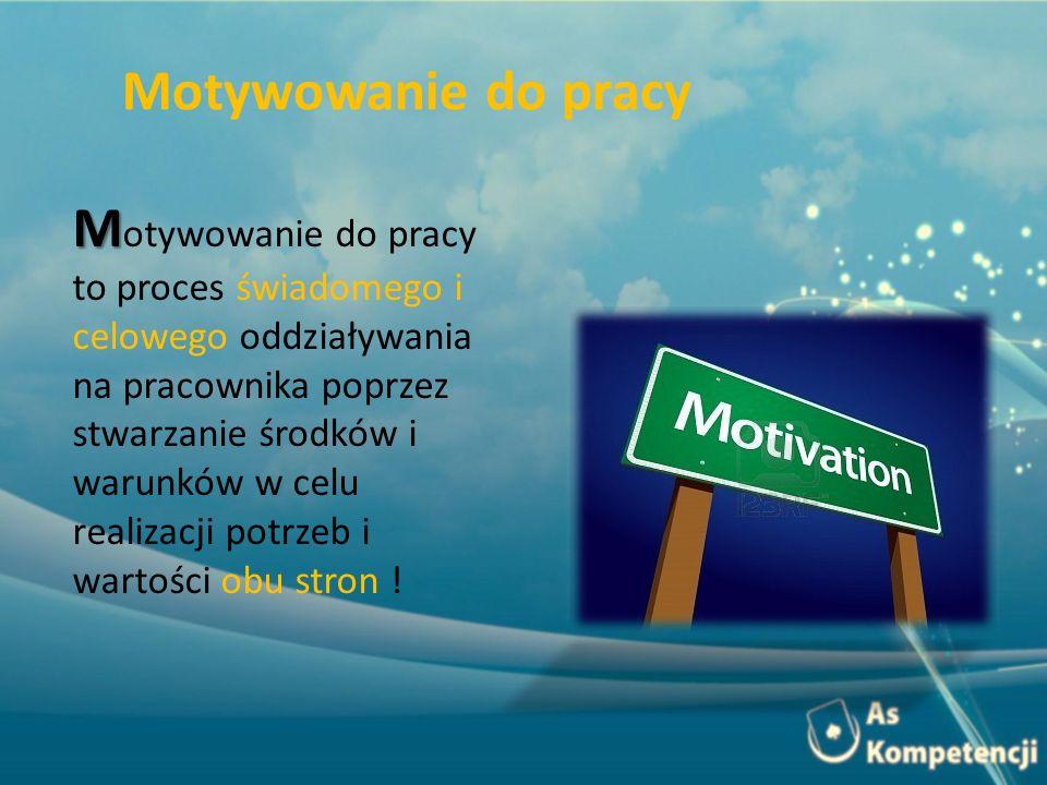 Motywowanie do pracy