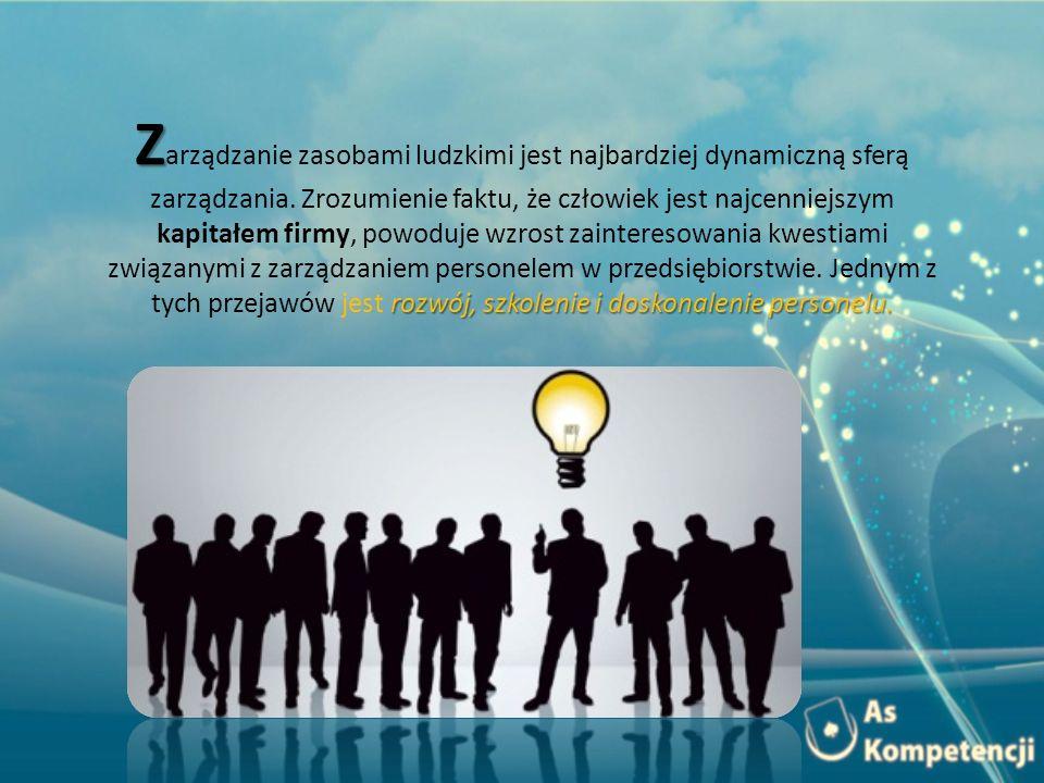 Zarządzanie zasobami ludzkimi jest najbardziej dynamiczną sferą zarządzania.