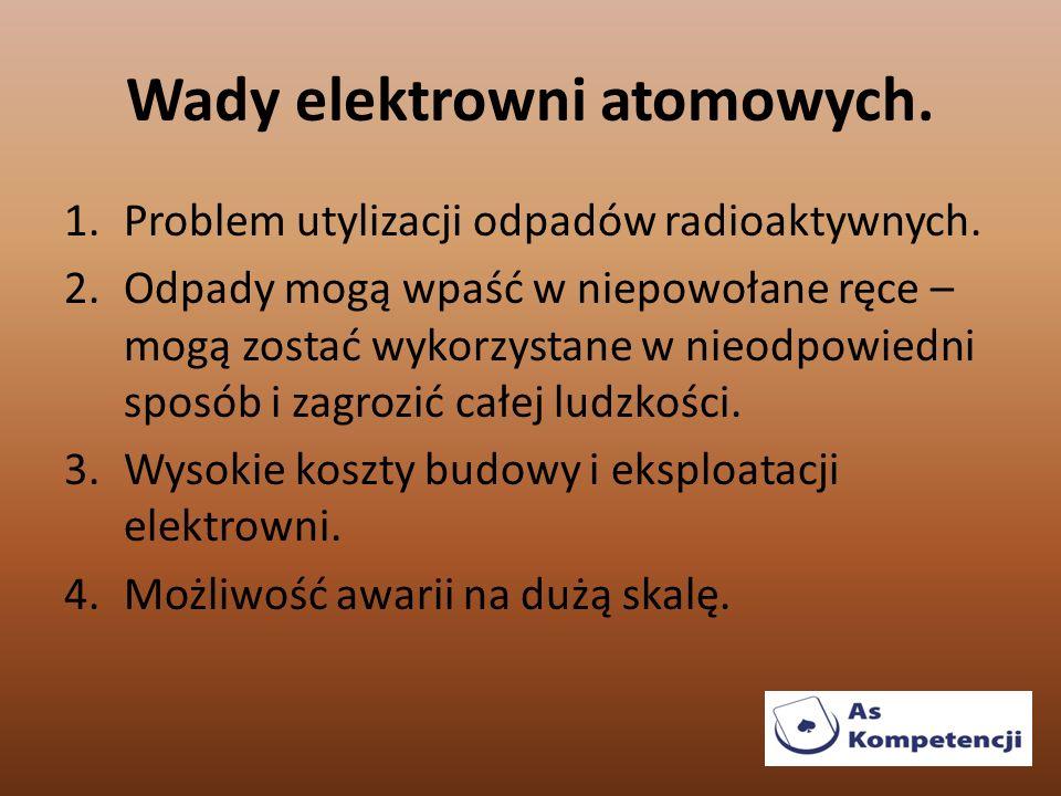 Wady elektrowni atomowych.