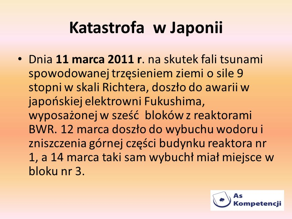 Katastrofa w Japonii