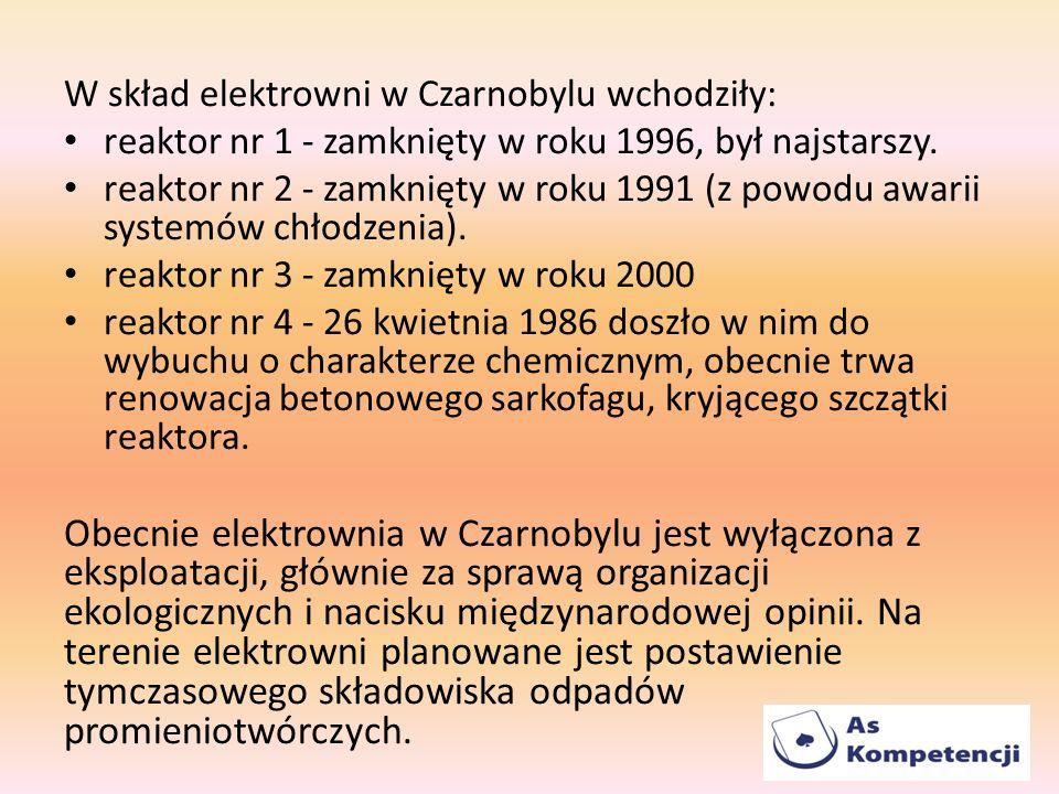 W skład elektrowni w Czarnobylu wchodziły: