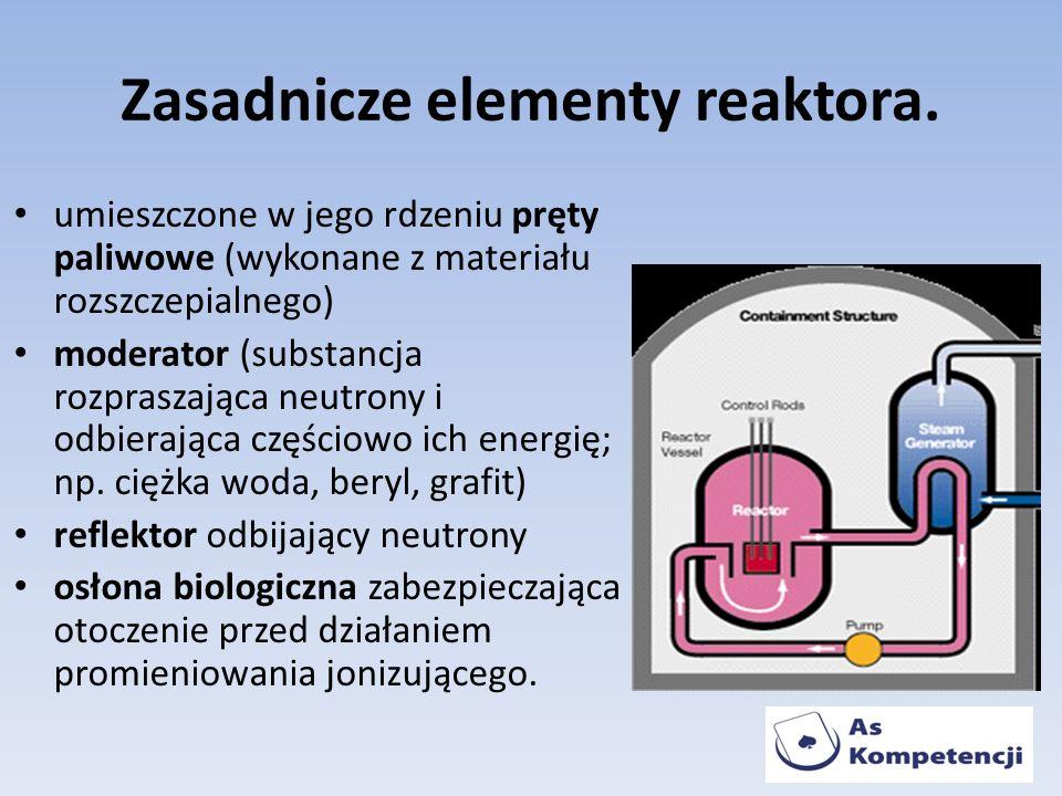 Zasadnicze elementy reaktora.