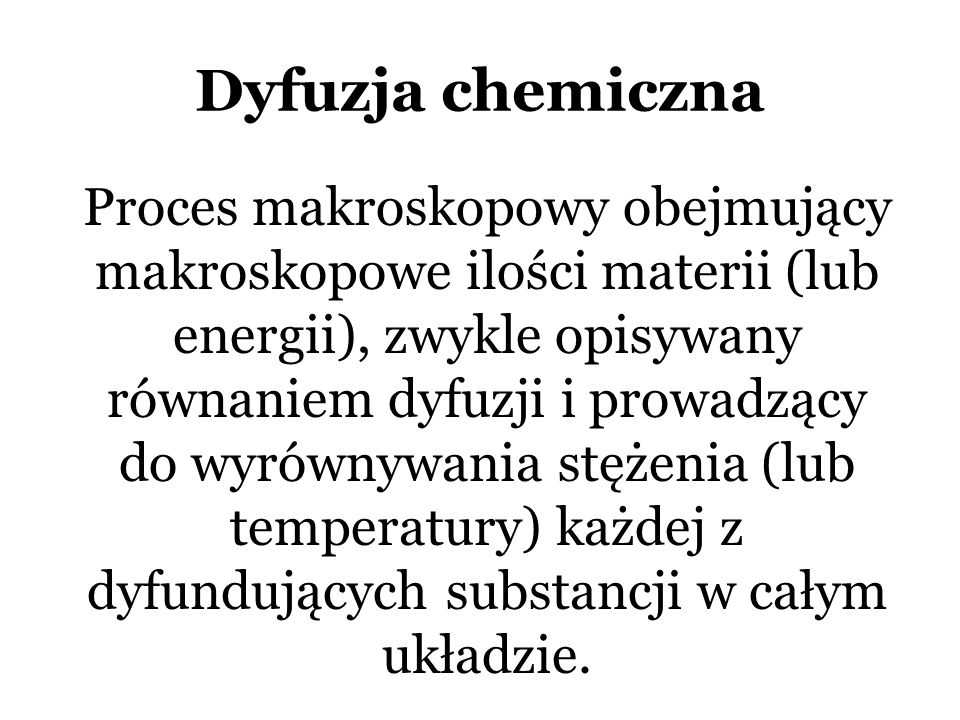 Dyfuzja chemiczna