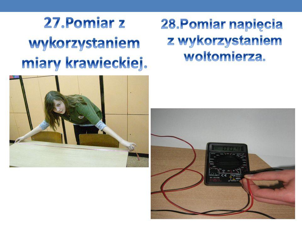 27.Pomiar z wykorzystaniem miary krawieckiej.