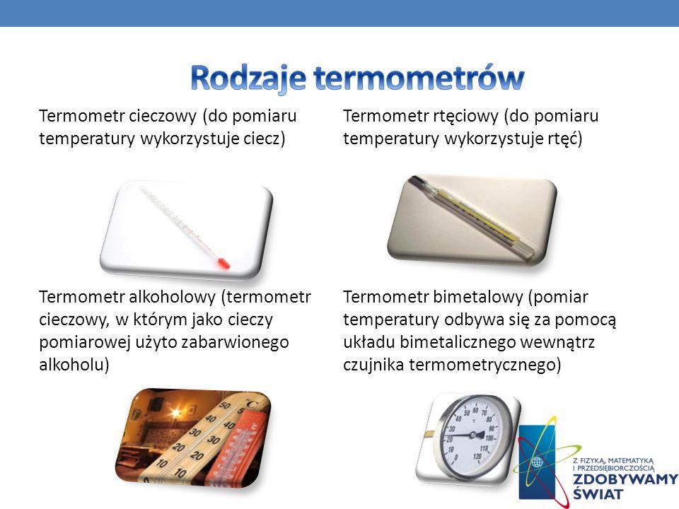 Rodzaje termometrów